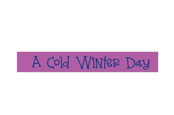 Download Free Scrapbooking Quote A Cold Winter Day Archivos De Corte Svg Por for Cricut Explore, Silhouette and other cutting machines.