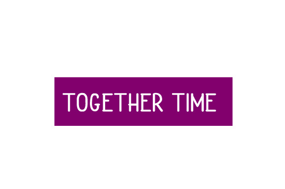 Scrapbooking Quote: Together Time Planner Craft Cut File By Creative Fabrica Crafts