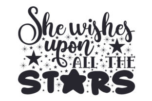 She Wishes Upon All the Stars Craft Design By Creative Fabrica Crafts