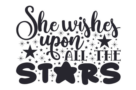 She Wishes Upon All the Stars Bedroom Craft Cut File By Creative Fabrica Crafts