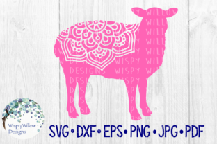 Download Free Sheep Farm Animal Mandala Cut File Graphic By for Cricut Explore, Silhouette and other cutting machines.