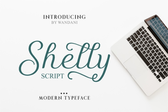 Print on Demand: Shelly Script Script & Handwritten Font By Wandani Creative - Image 1