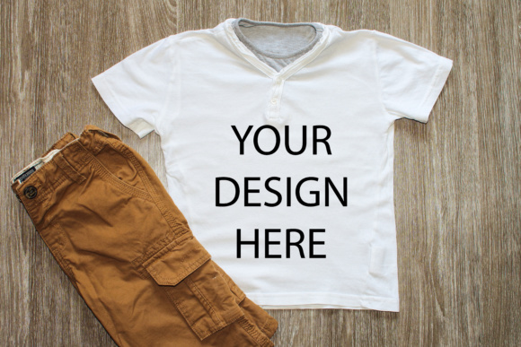 Print on Demand: Shirt Mockup Styled Stock Photography Stock Photo Graphic Product Mockups By Goran Stojanovic