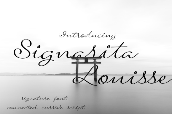 Print on Demand: Signarita Louisse Script & Handwritten Font By dondon_nillo