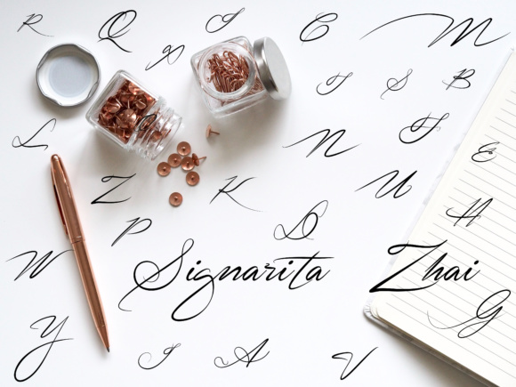 Print on Demand: Signarita Zhai Script & Handwritten Font By dondon_nillo - Image 4