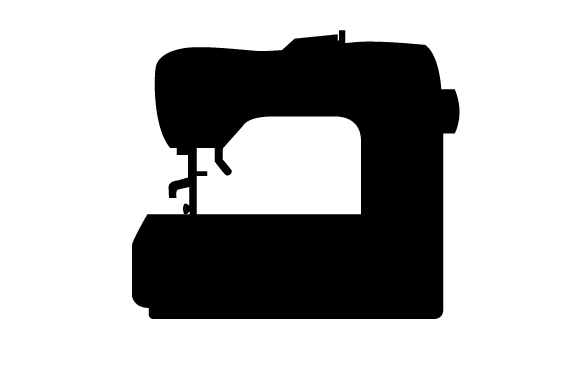 Silhouette of a Sewing Machine (SVG Cut file) by Creative ...