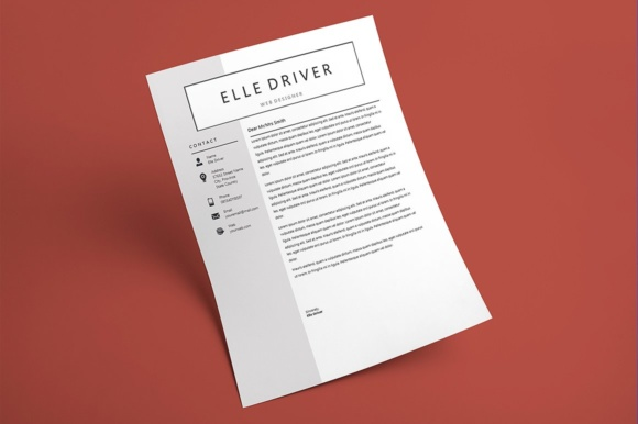 Print on Demand: Simple Elegant Resume Template Graphic Print Templates By Rustype