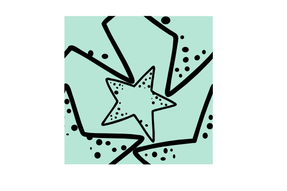 Print on Demand: Simple Pattern Design. Sea Star, Graphic Backgrounds By harisprawoto