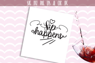 Download Free Sip Happens Cut File Graphic By Vector City Skyline Creative for Cricut Explore, Silhouette and other cutting machines.