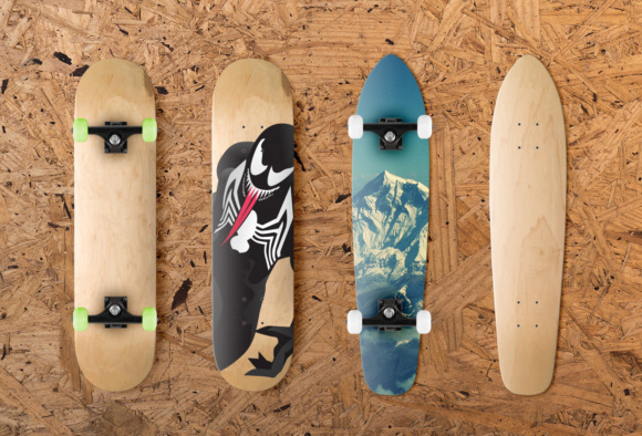 Skateboard Mockup Graphic Product Mockups By Creative Fabrica Freebies