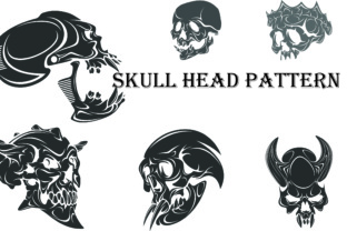 Skull Head Pattern for Tattoos Graphic By Best_Store