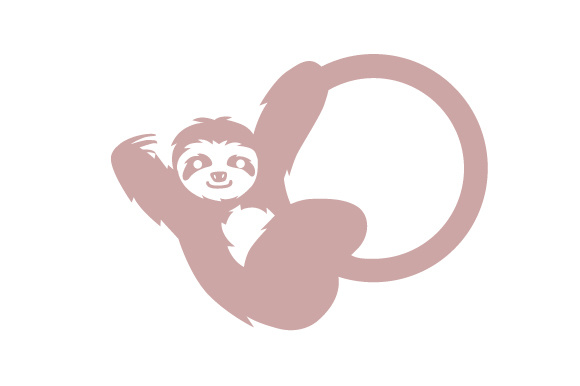 Download Free Sloth Swinging On Circle Monogram Frame Svg Cut File By Creative Fabrica Crafts Creative Fabrica for Cricut Explore, Silhouette and other cutting machines.