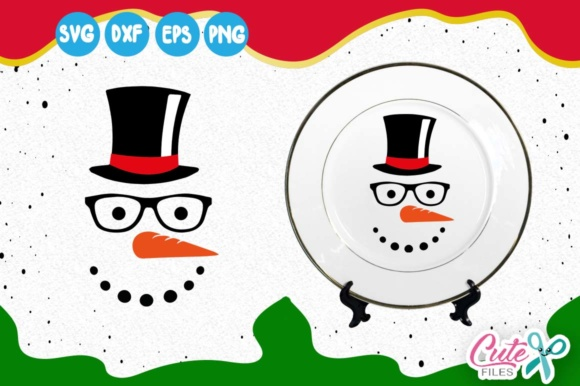 Snowman Face Svg Graphic Illustrations By Cute files