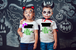 So Franken Cute Girl and Boy Design - Halloween SVG Graphic By MissSeasonsVinylCuts