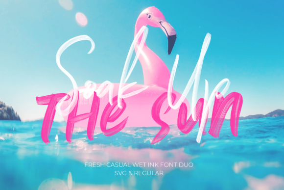 Print on Demand: Soak Up the Sun Duo Script & Handwritten Font By 50Fox