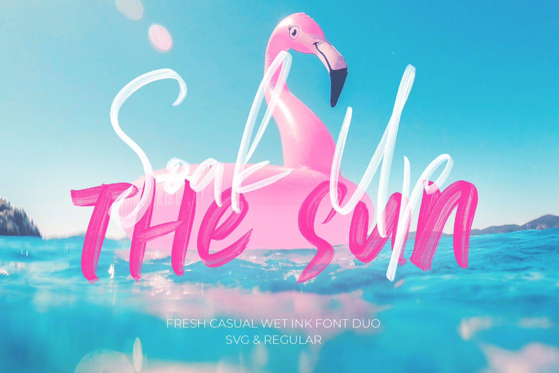 soak up the sun duo font by 50fox