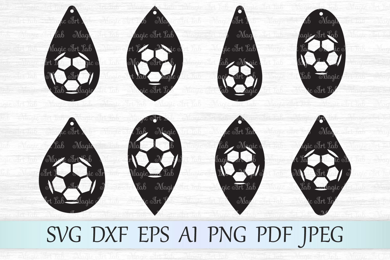 Download Free Soccer Earrings Svgs Graphic By Magicartlab Creative Fabrica for Cricut Explore, Silhouette and other cutting machines.