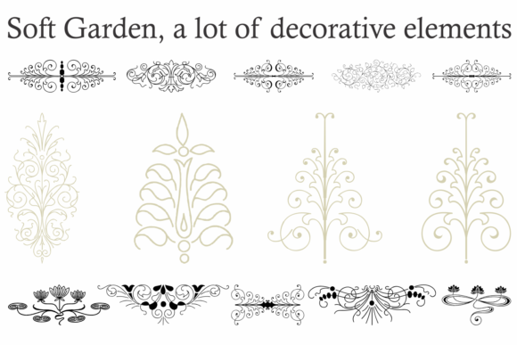 Print on Demand: Soft Garden Family Dingbats Font By Intellecta Design