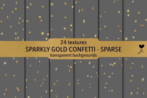 Download Free Sparkly Gold Confetti Sparse Graphic By Juliecampbelldesigns for Cricut Explore, Silhouette and other cutting machines.