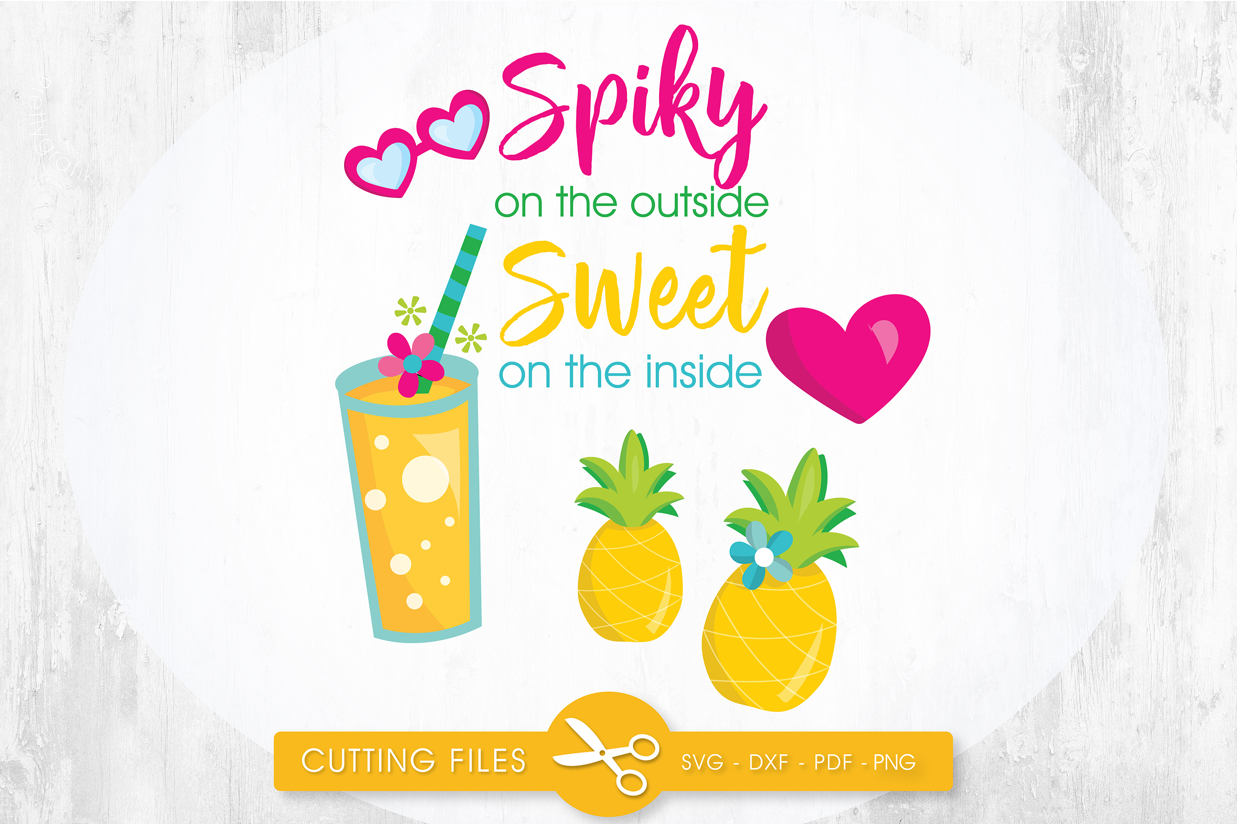 Download Free Spiky On The Outside Sweet On The Inside Graphic By for Cricut Explore, Silhouette and other cutting machines.