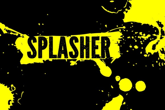 Print on Demand: Splasher Dingbats Font By grin3 - Image 5