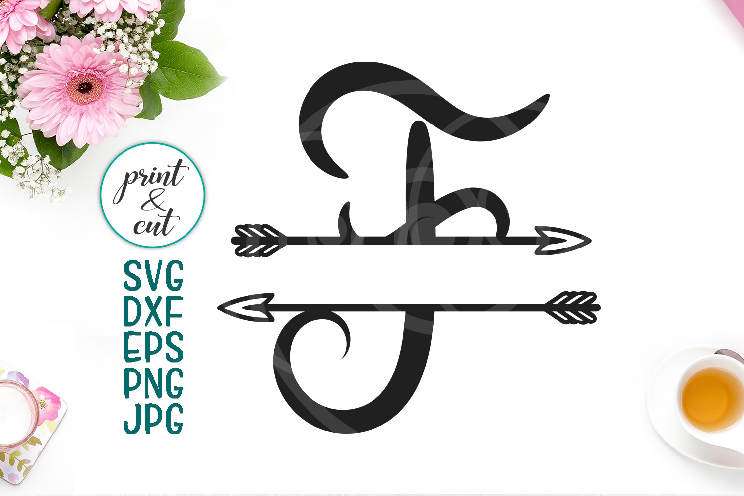Download Free Split Monogram Font F Graphic By Cornelia Creative Fabrica for Cricut Explore, Silhouette and other cutting machines.