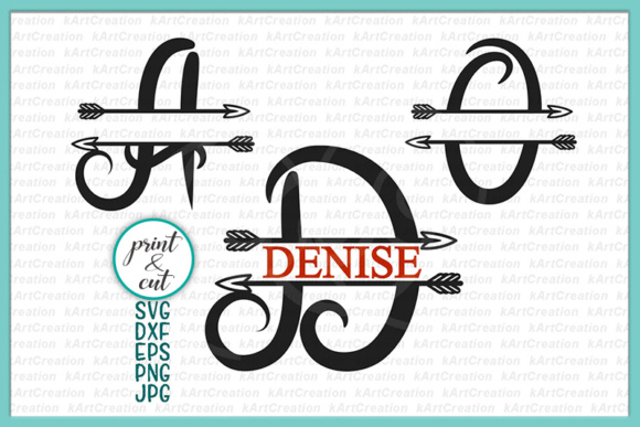 Download Free Split Monogram Font Svg Graphic By Cornelia Creative Fabrica for Cricut Explore, Silhouette and other cutting machines.