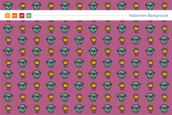 Spooky Halloween Pattern Graphic Patterns By KitCreativeStudio