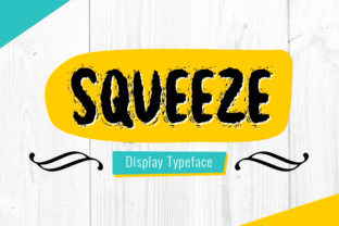 Print on Demand: Squeeze Display Font By Shattered Notion
