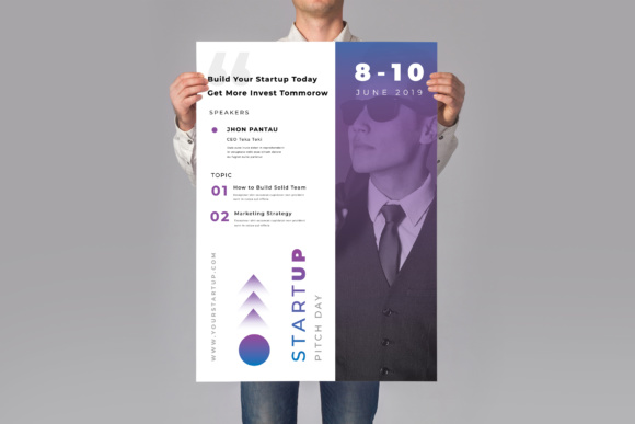 Startup Poster Flyer Graphic Print Templates By TMint