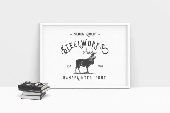 Print on Demand: Steelworks Sans Serif Font By Burntilldead - Image 6