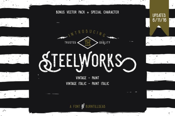Print on Demand: Steelworks Sans Serif Font By Burntilldead - Image 1