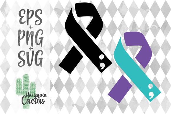 Suicide Awareness/Prevention Ribbon Graphic Crafts By Harlequin Cactus Designs