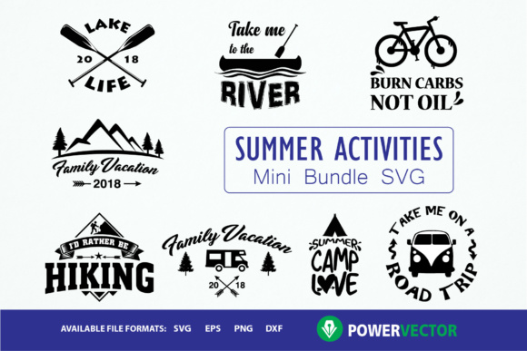 Summer Activities Bundle Graphic Crafts By PowerVECTOR