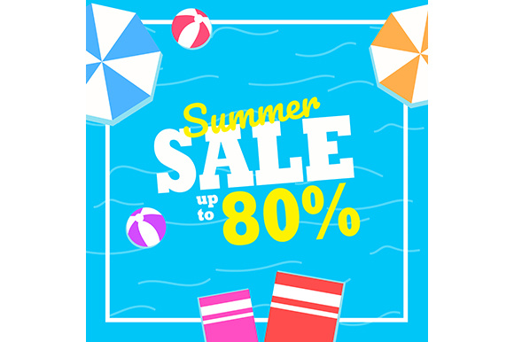Summer Sale Background Graphic Illustrations By indostudio