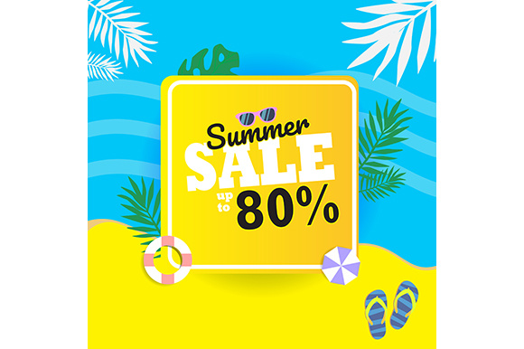 Summer Sale Background. Graphic Backgrounds By indostudio