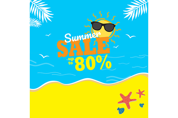 Summer Sale Background Grafik Illustrationen von indostudio