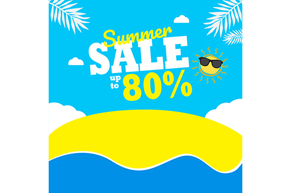 Summer Sale Background Graphic Backgrounds By indostudio - Image 1