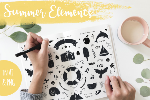 Summer Handdrawn Illustrations Graphic By switzershop