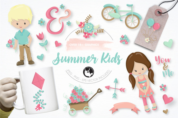 Print on Demand: Summer Kids Graphics and Illustrations Graphic Illustrations By Prettygrafik