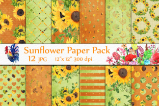 Download Free Sunflower Digital Papers Sunflower Backgrounds Yellow Digital for Cricut Explore, Silhouette and other cutting machines.