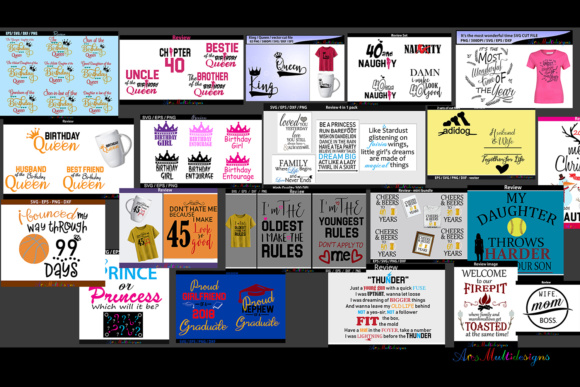 Print on Demand:  Bundle/over 50 Plus Cut Files Graphic Crafts By Arcs Multidesigns - Image 2