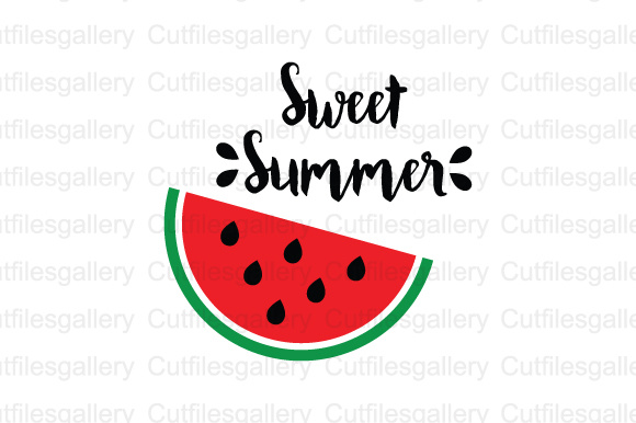 Download Free Sweet Summer Cut File Graphic By Cutfilesgallery Creative Fabrica for Cricut Explore, Silhouette and other cutting machines.