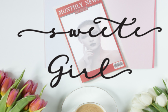 Print on Demand: Sweete Girl Script & Handwritten Font By YanIndesign