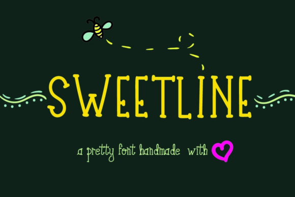 Print on Demand: Sweetline Display Font By Lickable Pixels