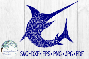 Download Free Swordfish Nautical Sea Animal Mandala Cut File Graphic By for Cricut Explore, Silhouette and other cutting machines.