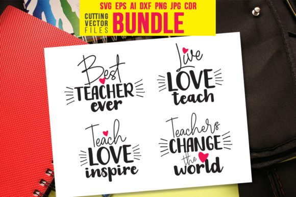 Teacher's Quote Bundle Graphic Crafts By danieladoychinovashop - Image 1