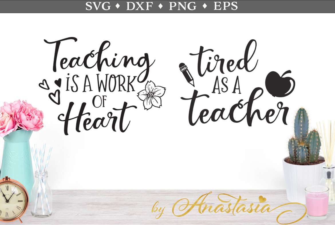 Download Free Teaching Is A Work Of Heart Tired As A Teacher Svg Cut File Graphic By Nerd Mama Cut Files Creative Fabrica for Cricut Explore, Silhouette and other cutting machines.