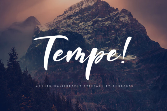Print on Demand: Tempe! Script Script & Handwritten Font By Khurasan