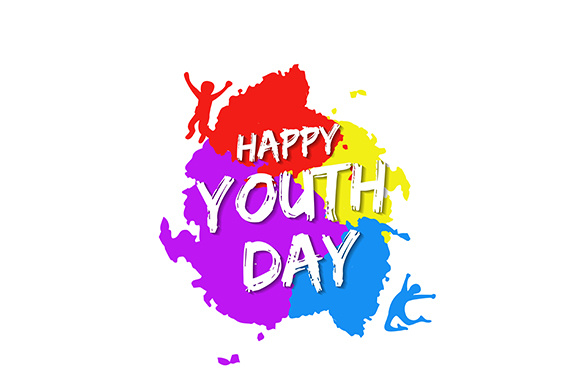 Download Free Template Card Of International Youth Day Graphic By Indostudio for Cricut Explore, Silhouette and other cutting machines.